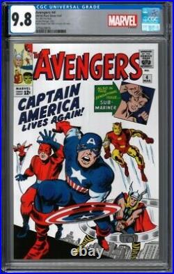 2019 Avengers #4 Captain America 1 oz Silver Foil Cover CGC 9.8 1000 Made