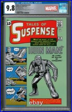 2020 Tales of Suspense #39 Iron Man 1 oz Silver Foil Cover CGC 9.8 1000 Made