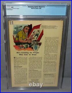 AMAZING SPIDER-MAN #13 (Mysterio 1st app, Quentin Beck) CGC 4.0 VG Marvel 1964