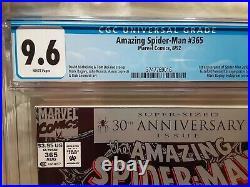 AMAZING SPIDERMAN #365 NEWSSTAND CGC 9.6 NM+ 1st Spiderman 2099