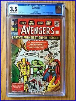 AVENGERS # 1 CGC 3.5 Silver Age Marvel Comic 1st Avengers Thor Hulk Iron-Man Ant