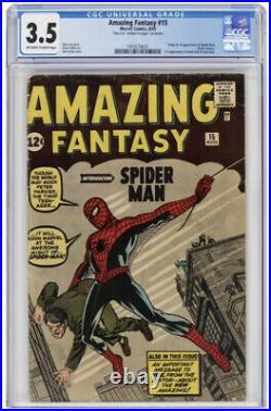 Amazing Fantasy #15 CGC 3.5 Stan Lee Auto