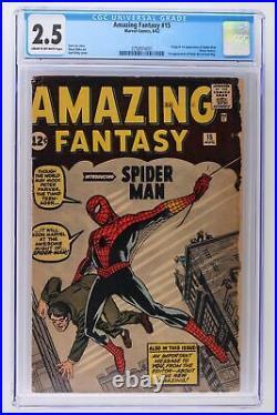 Amazing Fantasy #15 Marvel 1962 CGC 2.5 Origin & 1st App of Spider-Man