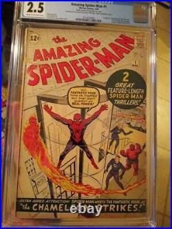 Amazing Spider-Man #1 CGC 2.5 1st Jonah Jameson + 1st Fantastic Four Crossover