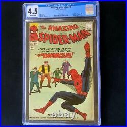 Amazing Spider-Man #10 CGC 4.5 1st Big Man & Enforcers! Marvel Comic 1964