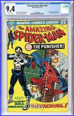 Amazing Spider-Man #129 CGC 9.4 Marvel 1st Appearance of Punisher! 1259658003