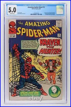 Amazing Spider-Man #15 Marvel 1964 CGC 5.0 1st App Kraven the Hunter