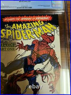 Amazing Spider Man #361 CGC 9.8 NEWSSTAND First appearance of CARNAGE