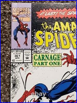 Amazing Spider-Man #361 Newsstand High Grade Raw (Possible CGC 9.8) 1st Carnage