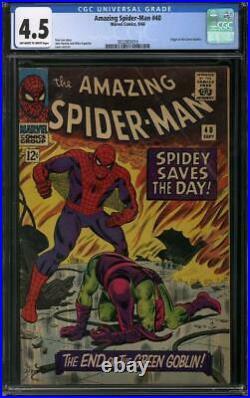 Amazing Spider-Man #40 CGC 4.5 (OW-W) Origin of the Green Goblin