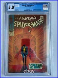 Amazing Spider-Man #50 CGC 5.0 1st Kingpin Wilson Fisk Origin Marvel Comics