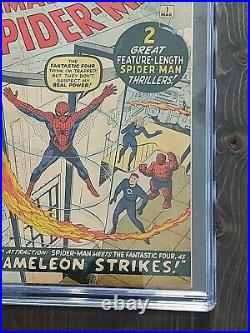 Amazing Spider-man #1cgc 4.0 Marvel 1963 Never Cleaned Or Pressed