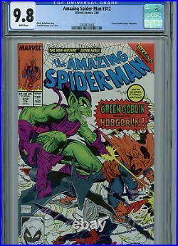 Amazing Spider-man # 312 CGC 9.8 NM/MT 1989 Marvel Comics McFarlane K17