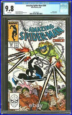 Amazing Spiderman # 299 CGC 9.8 WP 1st Cameo APP of Venom Marvel Comics 1988
