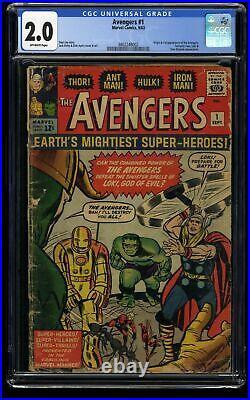 Avengers #1 CGC GD 2.0 Off White Thor Captain America Iron Man Hulk