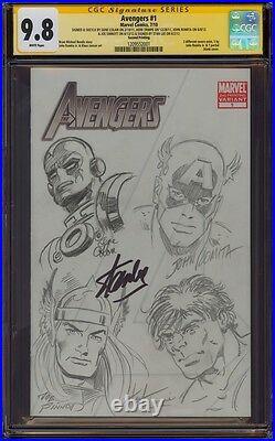 Avengers 1 Cgc 9.8 Ss Sketch John Romita Gene Colan Trimpe Joe Sinnott Stan Lee