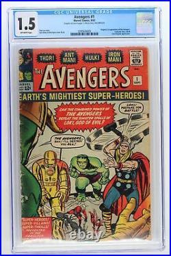 Avengers #1 -Marvel 1963- CGC 1.5 Origin & 1st App Avengers (Fantastic Four)