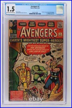 Avengers #1 Marvel 1963 CGC 1.5 Origin and 1st Appearance of The Avengers