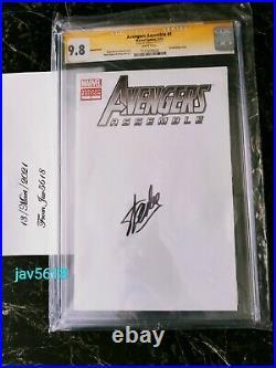 Avengers Assemble #1 Cgc 9.8 Ss. Stan Lee, Marvel Blank Variant Rare, Mint