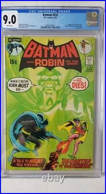 Batman #232 CGC 9.0 VF/NM 1st Appearance Ra's al Ghul WHITE Pages