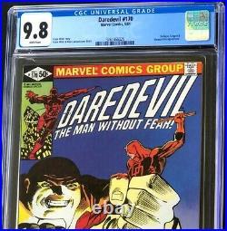 DAREDEVIL #170 CGC 9.8 WHITE Pgs KINGPIN + BULLSEYE App! Marvel Comic 1981