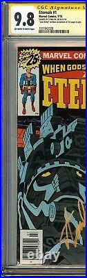 ETERNALS #1 CGC 9.8 SIGNED by both STAN LEE & JACK KIRBY Truly Amazing. Thanos