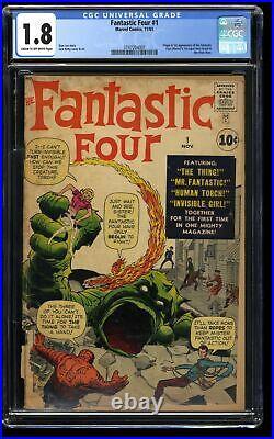 Fantastic Four #1 CGC GD- 1.8 Cream To Off White Marvel Comics