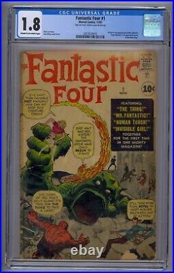 Fantastic Four #1 Cgc 1.8 Origin/1st Fantastic Four