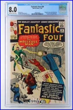 Fantastic Four #20 CGC 8.0 VF MARVEL 1963 -1st App/ORIGIN Molecule Man