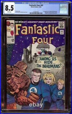Fantastic Four # 45 CGC 8.5 White (Marvel, 1965) 1st appearance Inhumans