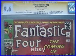 Fantastic Four #48 CGC 9.6 WP SS Signed Stan Lee 1st app Silver Surfer