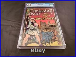 Fantastic Four 48 CGC Graded 5.0 Marvel Comics 1st Silver Surfer