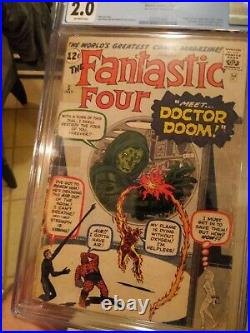 Fantastic Four #5 CGC 2.0 OW Origin & 1st Appearance of Dr. Doom MCU MOVIE