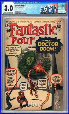Fantastic Four #5 CGC 3.0 Origin & 1st appearance of Dr. Doom! KEY ISSUE! L@@K