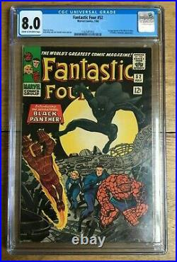 Fantastic Four #52 1st Appearance of Black Panther CGC 8.0 1163581012