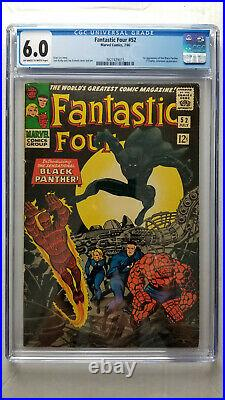 Fantastic Four #52 CGC 6.0 Fine 1st Appearance Black Panther