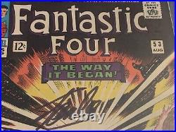 Fantastic Four #53 2nd BLACK PANTHER 1st Klaw 9.0 CGC SS Stan Lee Marvel Comic