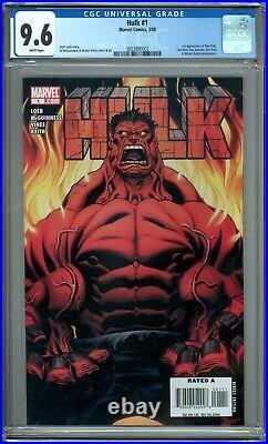 Hulk 1 CGC Graded 9.6 NM+ 1st Red Hulk Marvel Comics 2008