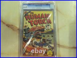 Human Torch Comics 25 Cgc 6.0 Marvel 1946 Sub-mariner