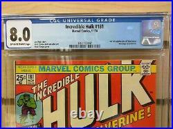 Incredible Hulk #181 1974 MARVEL Comics 1st Appearance of Wolverine CGC 8.0