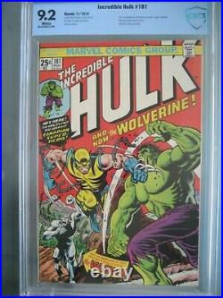Incredible Hulk #181 CGC 8.5 WP (was CBCS 9.2) Marvel 1962 1st app Wolverine