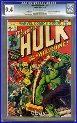Incredible Hulk #181 CGC 9.4 NM Universal CGC #1032370008