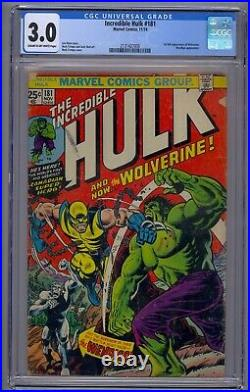 Incredible Hulk #181 Cgc 3.0 1st Full Wolverine Wendingo App