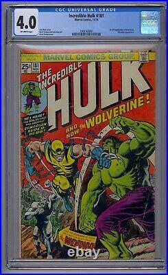 Incredible Hulk #181 Cgc 4.0 1st Full Wolverine Wendingo App (0001)