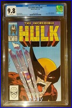 Incredible Hulk 340 CGC 9.8 WP Hulk vs Wolverine Todd McFarlane Marvel Key 1988