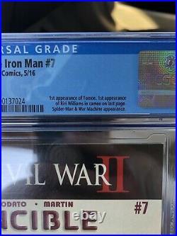 Invincible iron man#7 cgc 9.8(1st Cameo app of Riri Williams/Ironheart) MCU