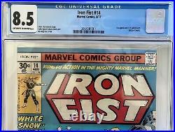 Iron Fist #14 CGC 8.5 1st Sabretooth Marvel Comics Chris Claremont 8/77