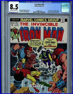Iron Man #55 CGC 8.5 Marvel Comics 1973 1st Thanos Drax Mentor K9