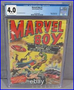 MARVEL BOY #1 (Flying Saucer Cover, Origin) CGC 4.0 VG Marvel Comics 1950