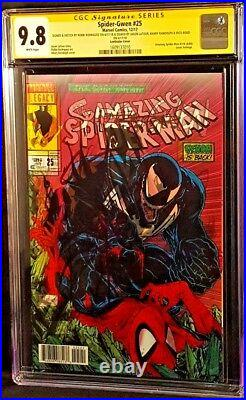 MARVEL Comic SPIDER-GWEN #25 CGC SS 9.8 X4 SPIDER-MAN 316 GHOST SPIDER VENOM